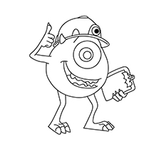 Top 20 Free Printable Monsters Inc. Coloring Pages Online