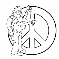 Top 25 Free Printable Peace Sign Coloring Pages Online