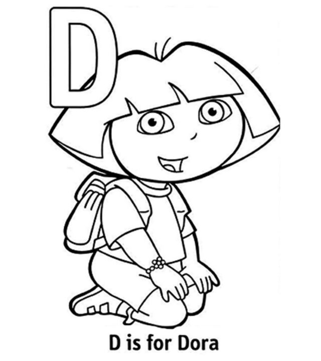 Top 24 Free Printable Letter D Coloring Pages Online