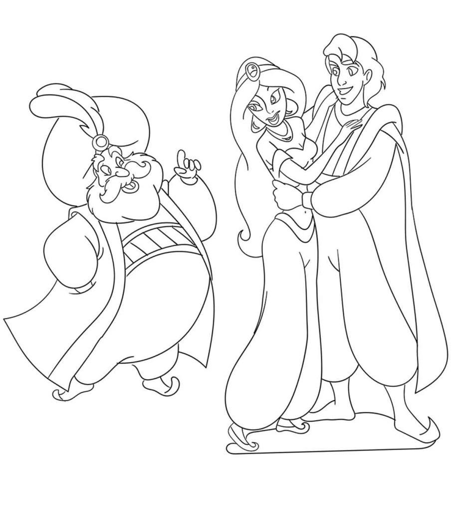 Top 10 Free Printable Princess Jasmine Coloring Pages Online | free coloring pages disney princess jasmine