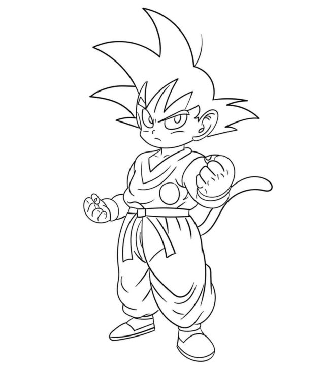 Top 28 Free Printable Dragon Ball Z Coloring Pages Online