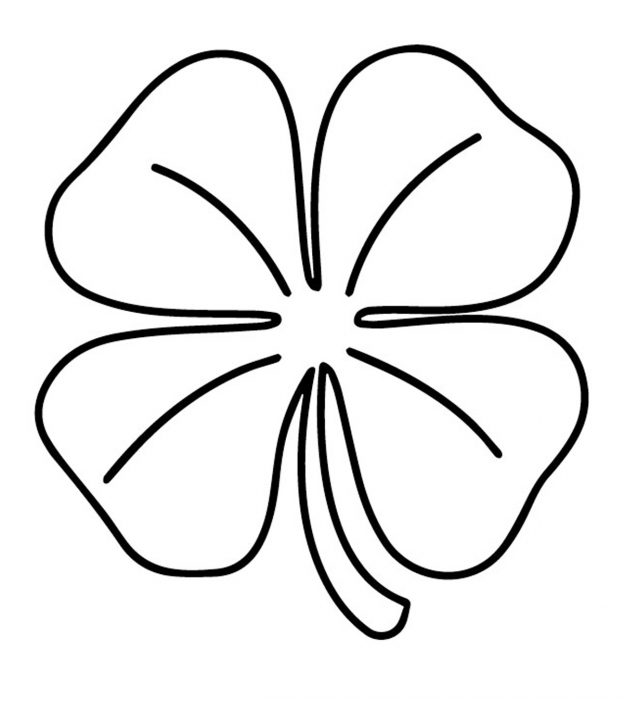 top  free printable four leaf clover coloring pages online