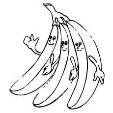 Top 25 Free Printable Banana Coloring Pages Online