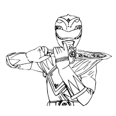 power rangers coloring page # 3