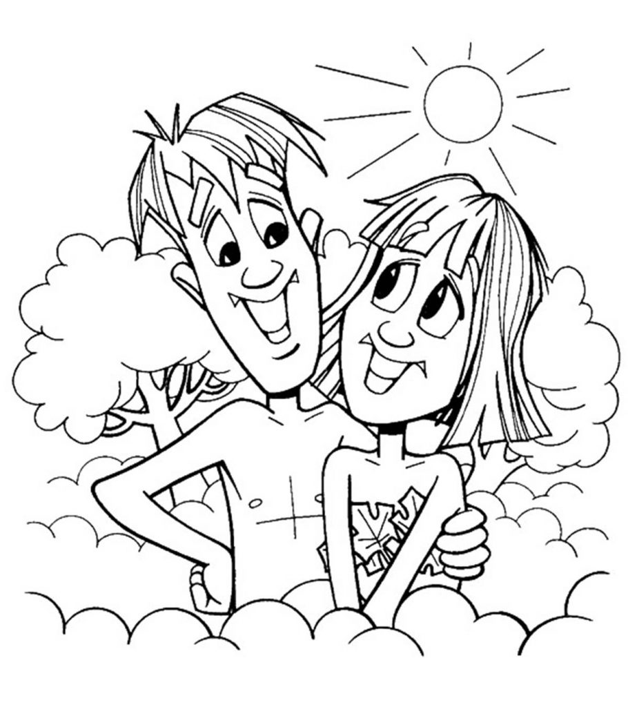 Top 25 FreePrintable Adam And Eve Coloring Pages Online