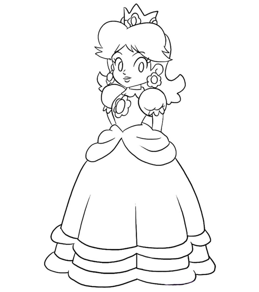 25 Best 'Princess Peach' Coloring Pages For Your Little Girl