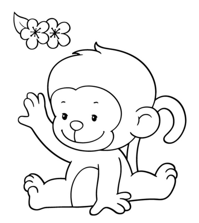 Top 17 Free Printable Monkey Coloring Pages For Kids