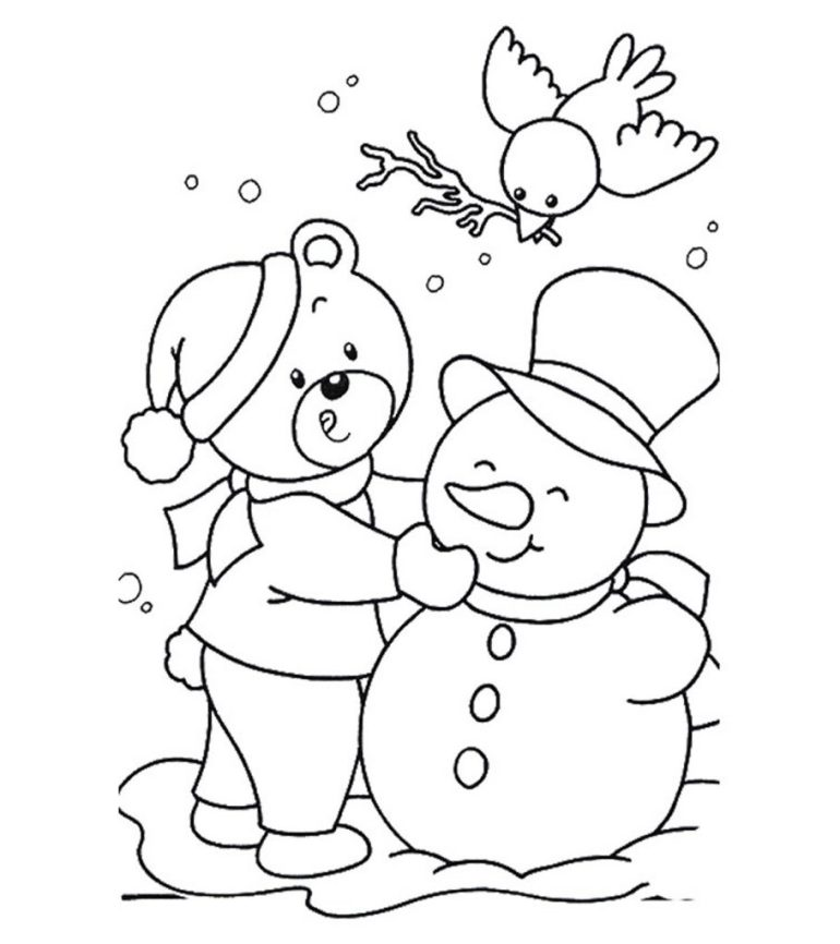 Free Printable January Coloring Pages for Kids Online | free coloring pages for toddlers
