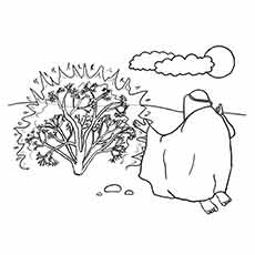 burning bush coloring page # 79