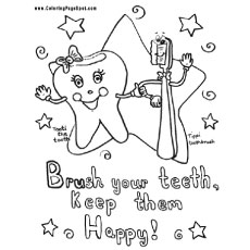 Top 10 Free Printabe Dental Coloring Pages Online