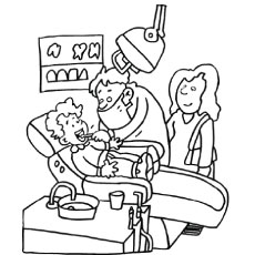 teeth coloring page # 6