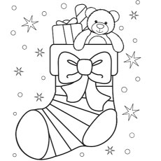 christmas stockings coloring pages # 3