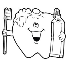 teeth coloring page # 3
