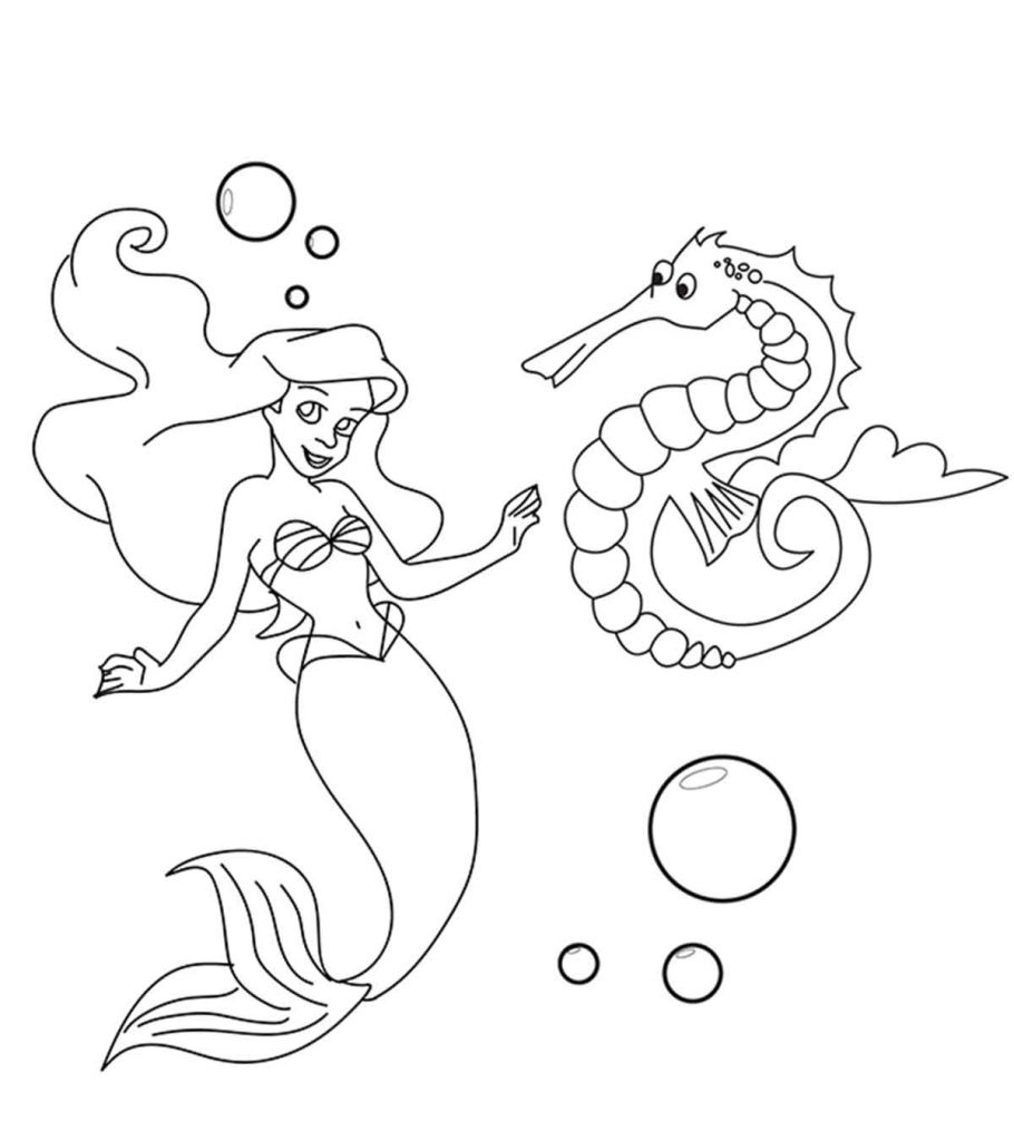 Top 10 Free Printable Seahorse Coloring Pages Online