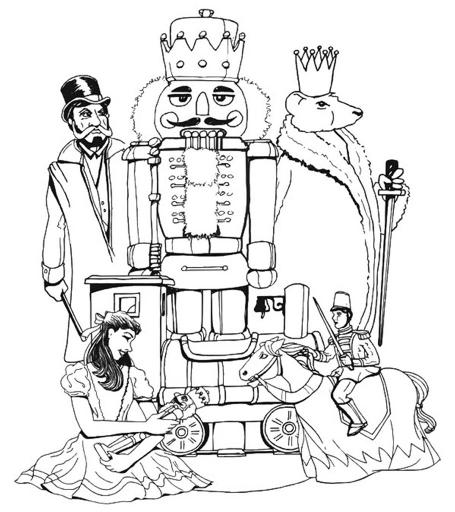 Top 20 Free Printable Nutcracker Coloring Pages Online