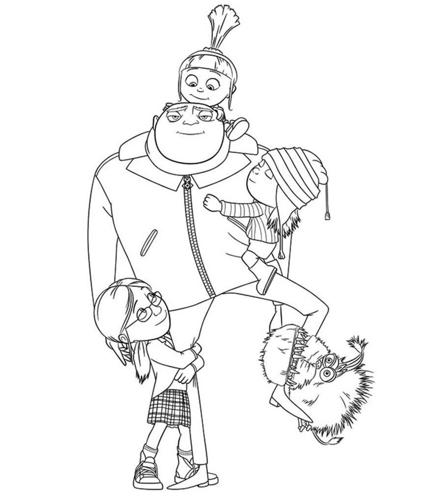 Top 35 'Despicable Me 2' Coloring Pages For Your Naughty Kids