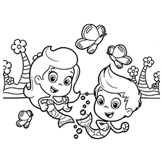 bubble guppies coloring page # 0