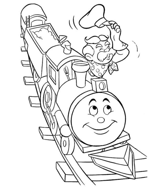 Top 17 Free Printable Train Coloring Pages Online