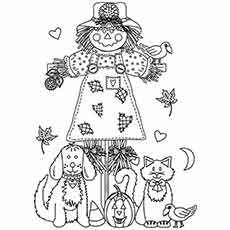 Cb During Fall Seasom Coloring Page