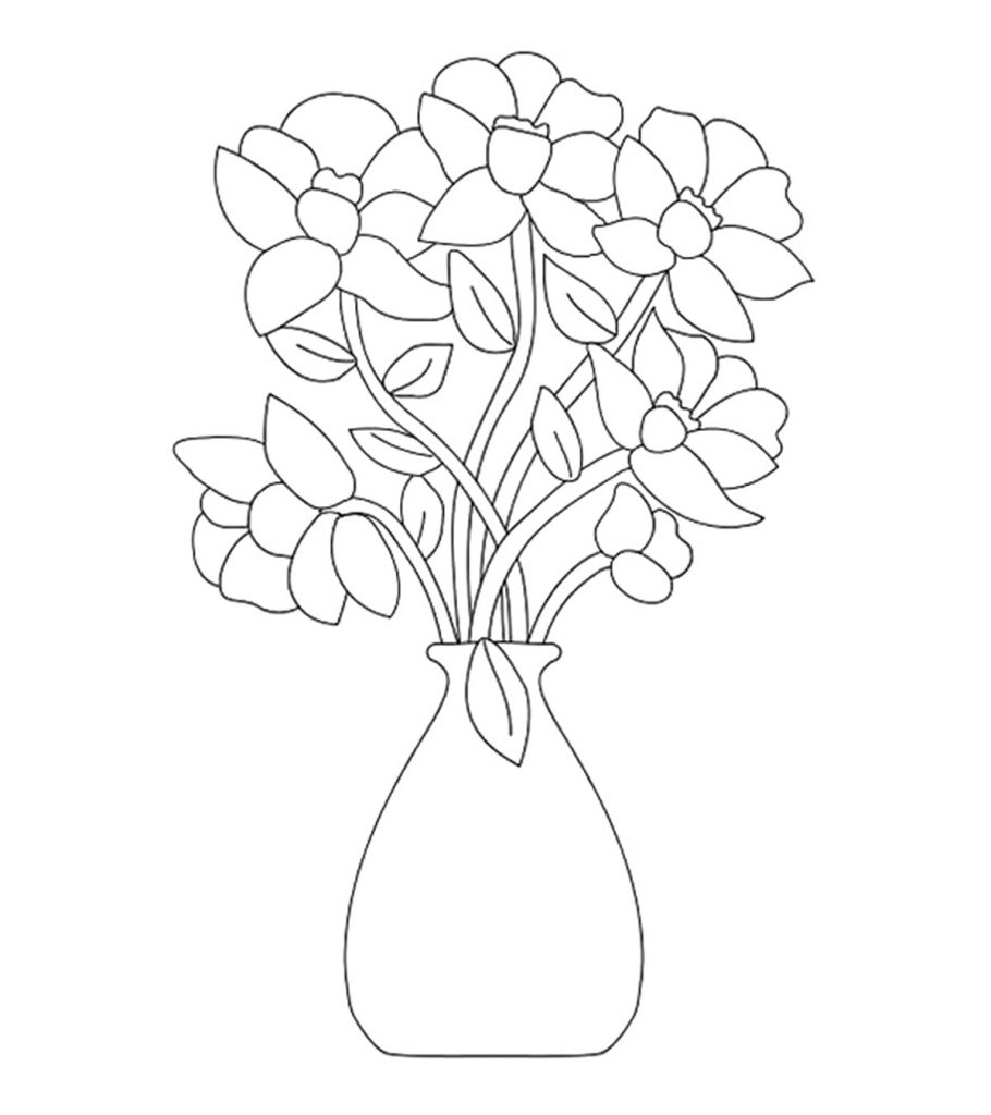 Top 47 Free Printable Flowers Coloring Pages Online