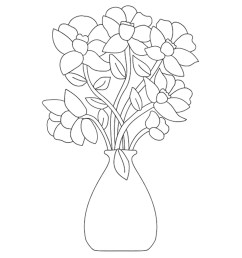 top 47 free printable flowers coloring pages online diagram of flower bunch [ 1200 x 1350 Pixel ]