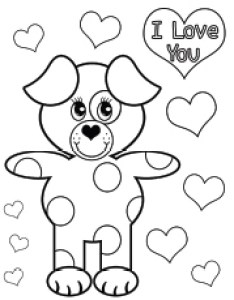 Bear saying  love you on valentines day coloring page to print also top free printable pages online rh momjunction