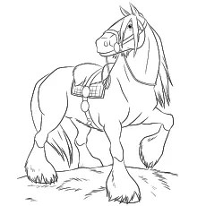 realistic horse coloring pages # 2