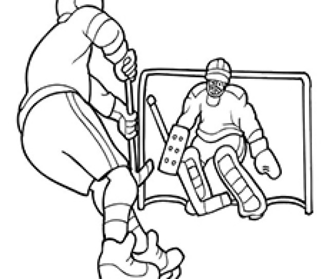 Top  Free Printable Hockey Coloring Pages Online