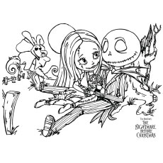 Top 25 'Nightmare Before Christmas' Coloring Pages for