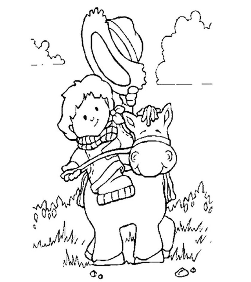 top  free printabe cowboy coloring pages online