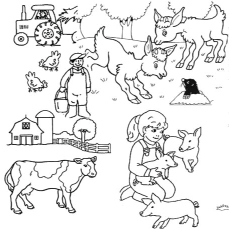Wallpaper Fall Farmhouse Goats Top 10 Farm Coloring Pages Your Toddler Will Love To Color