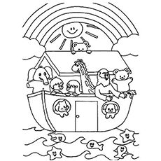 noah and the ark coloring pages # 1