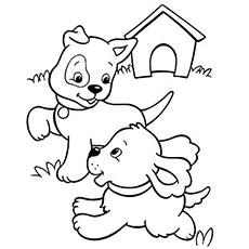 puppy coloring sheet - Cypru.hamsaa.co