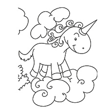 free unicorn coloring pages # 11