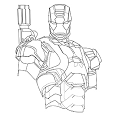 ironman coloring page # 5