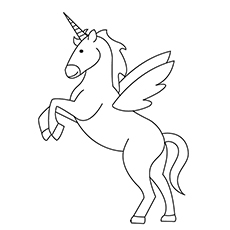 free unicorn coloring pages # 6