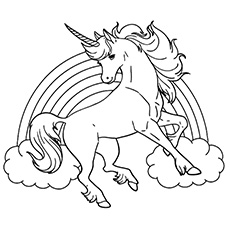 Unicorn Pictures To Print Out And Colour