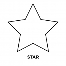 Single Star Coloring Page To Print