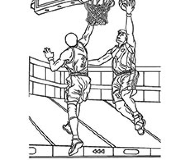 Top  Free Printable Basketball Coloring Pages Online