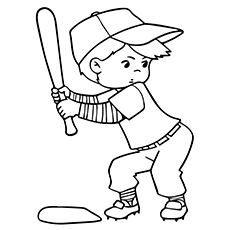 Top 20 Baseball Coloring Pages For Toddlers