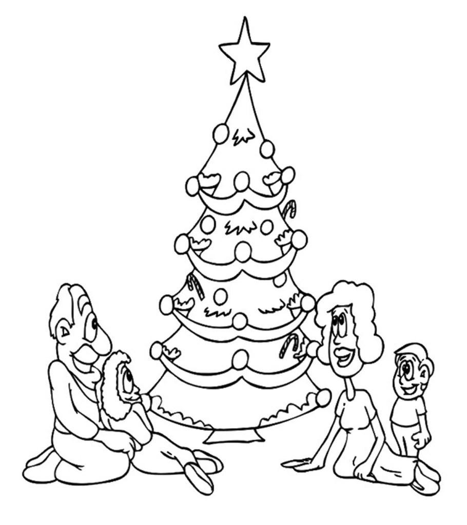 Top 35 Free Printable Christmas Tree Coloring Pages Online | christmas tree coloring pages