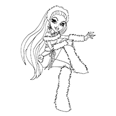monster high coloring pages abbey bominable coloring