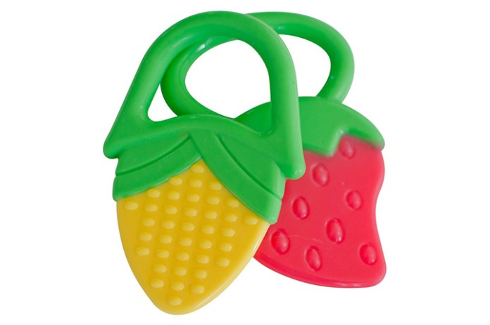 Baby Teething Rings Strawberry & Corn Teether Toys - 2 Pack