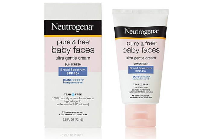 Neutrogena Pure and Free Baby Faces Sunscreen