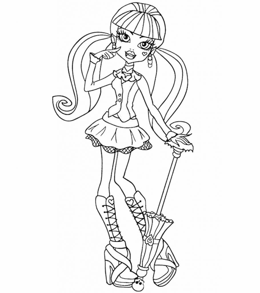 Top 27 Monster High Coloring Pages For Your Little Ones