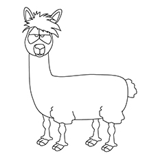 √10 Cute Free ᐂ Printable Printable Llama Coloring Pages