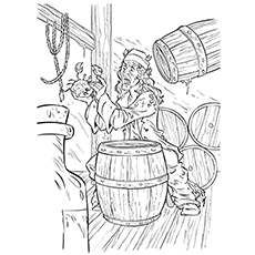pirates of the caribbean coloring pages # 62