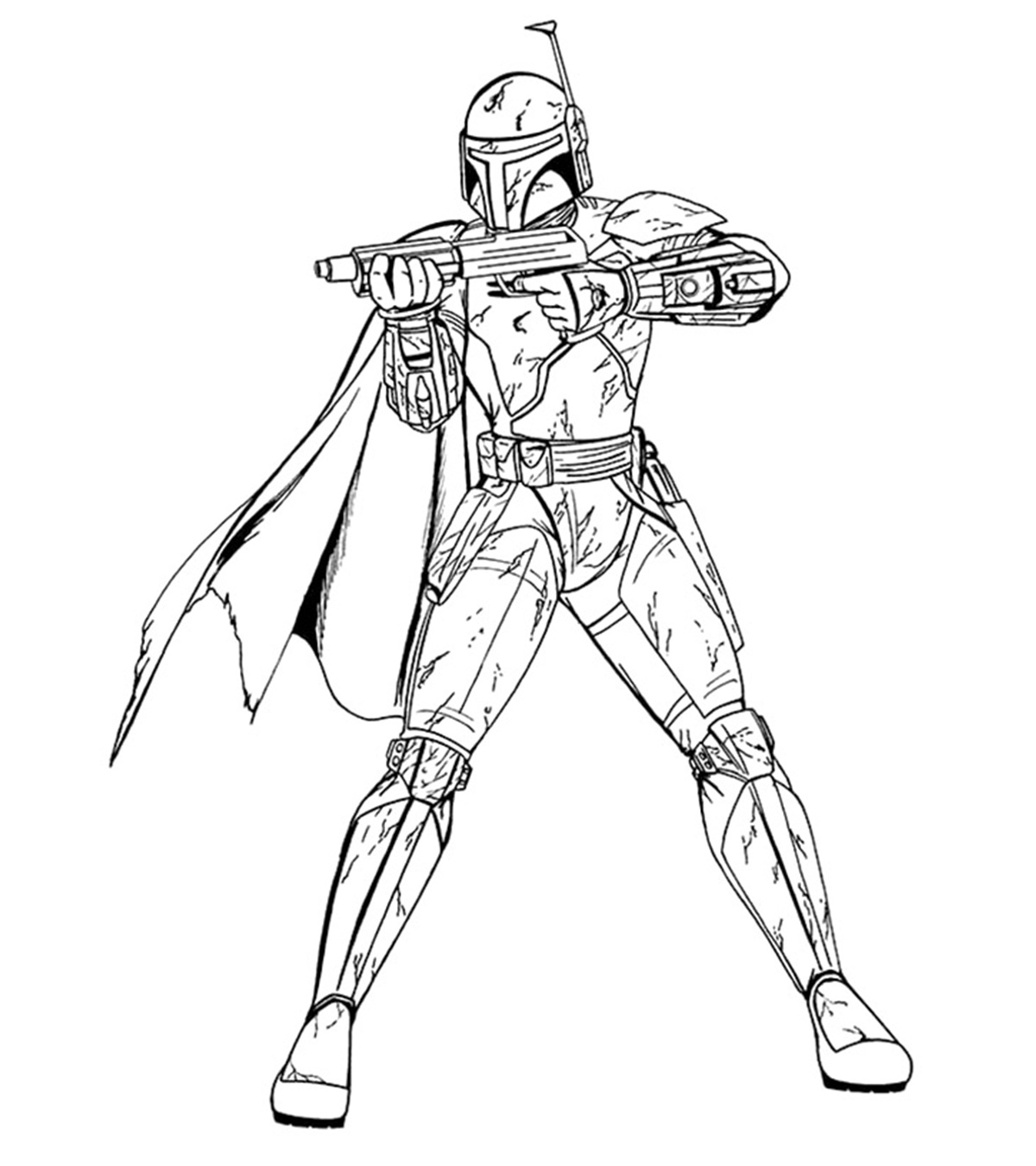 Coloring And Drawing Star Wars Coloring Pages Mandalorian
