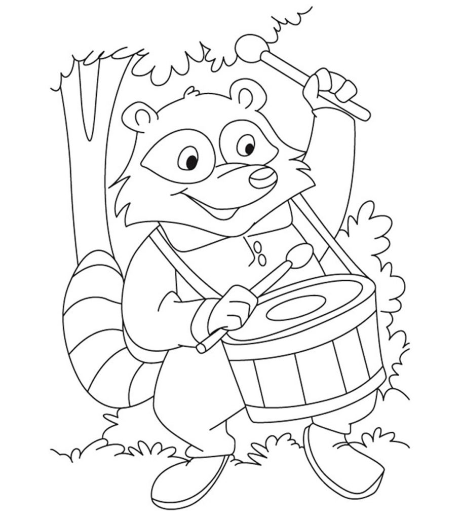 10 Funny Raccoon Coloring Pages Your Toddler Will Love To