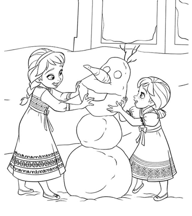 15 Beautiful Frozen Coloring Pages For Your Little Princess